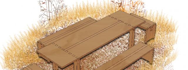 Konstruktion Tisch02-Esstiusch Massivholzstisch- dunkel
