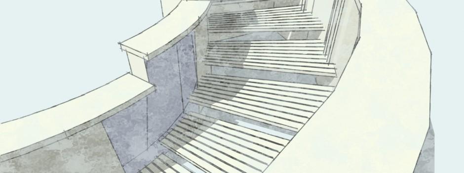Entwurf der neuen Treppe