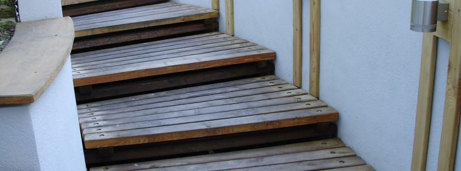 Freitreppe Holz Großerkmannsdorf bei Dresden
