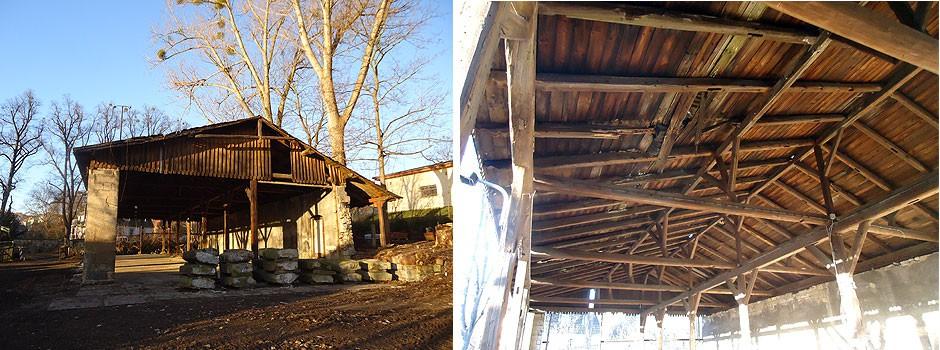 Altholzgewinnung-Rückbau-alter-Holzkonstruktion-altes-Bauholz