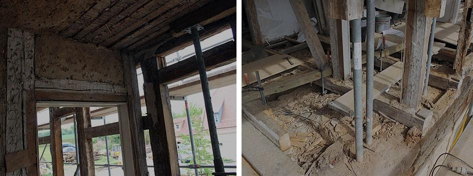 Erbaut-1826-siehe-Lehmgefach-über-Türriegel---Fachwerksanierung-Schwellenbereich