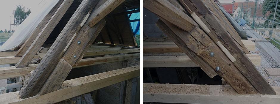 Sanierung-eines-Knotenpunktes-Raehm-Deckenbalken-liegender-Stuhl-und-Sparren