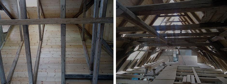 Sichtweise---hinterer-Walm-SüdOst-und-Blick-ueber-2-Drittel-Dachstuhllänge