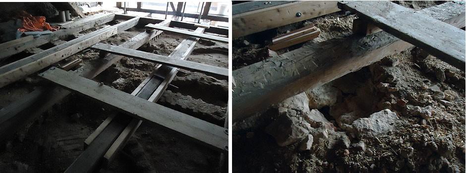 Verstärkung-Deckenbalken-Gewölbe-neue-Auflagerpunkte