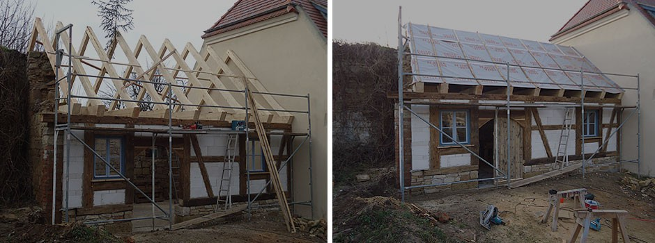 Einbau der Dachhaut