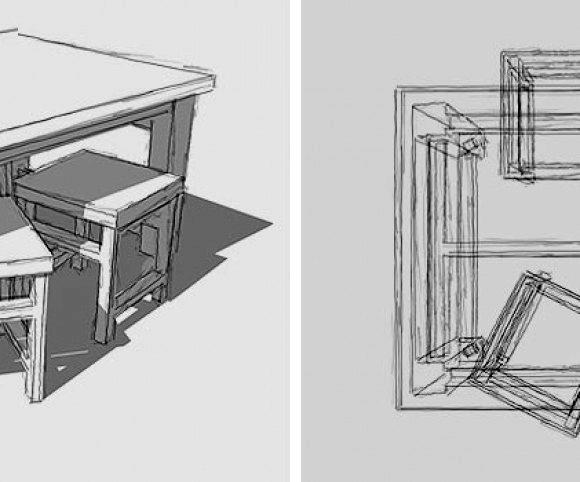 Entwurf: Tisch-40 Lenkrollen
