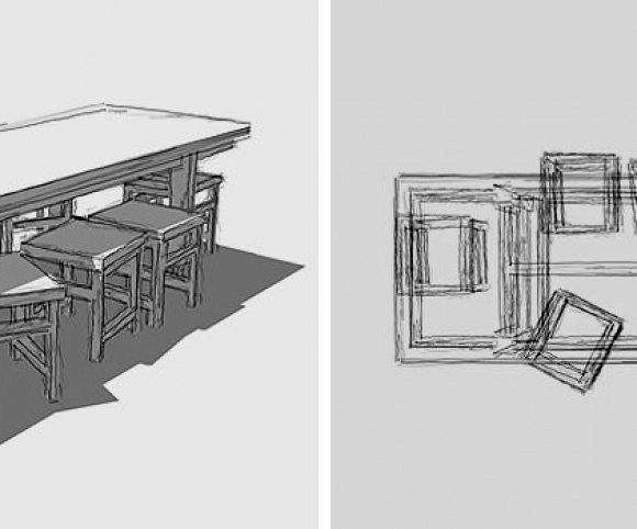 Entwurf: Tisch-62 mit lenkbaren Industrierollen