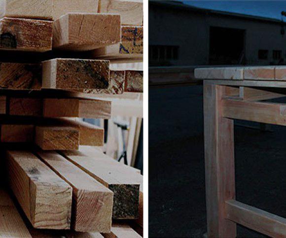 Rohmaterial: wenn verfügbar, dann Holz aus heimischen Wälden